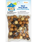 Sulyn Clubhouse Crafts-Wood Pony Beads-90 Pcs.