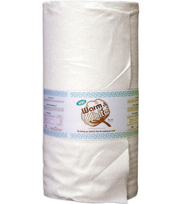 The Warm Company Warm & White Cotton Batting Queen  - Sold by the Yard