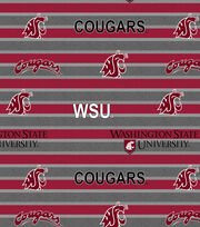 "Washington State University Cougars Fleece Fabric 58""-Polo Stripe, , hi-res"