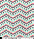 Snuggle Flannel Fabric 42\u0022-Coral Dotted Chevron