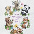 Dimensions Quilt Stamped Cross Stitch Kit Baby Animals