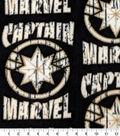 Captain Marvel Fleece Fabric-Logo with Distress