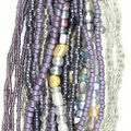 hildie & jo Glass Multi Strand Seed Strung Beads-Purple