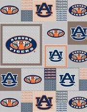 "Auburn University Tigers Fleece Fabric 58""-Gray Block, , hi-res"