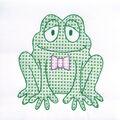 Stamped White Quilt Blocks 9\u0022X9\u0022 12/Pkg-Froggy