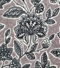 Luxe Fleece Fabric -Black Floral