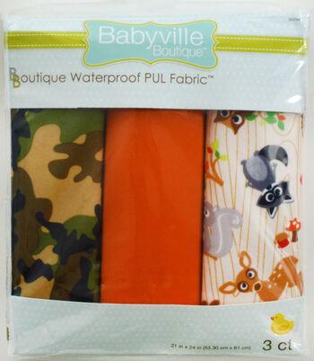 "Babyville PUL Fabric 3 pack 21"" x 24""-Camo Orange Forest"