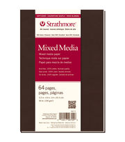 "Strathmore Soft Cover Mixed Media Journal Book With 64 Pages 5.5""x8"", , hi-res"
