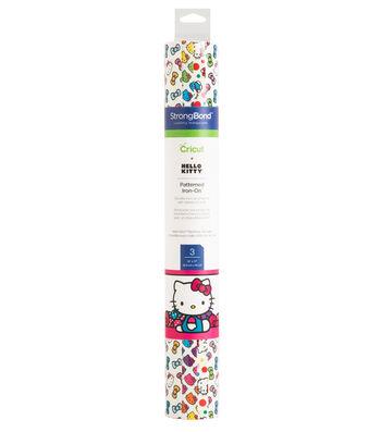 """Cricut 12""""x12"""" Patterned Iron-On Sampler-Hello Kitty Rainbow"""