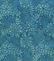 """Legacy Studio Indonesian Batiks Cotton Fabric 44""""-Teal Florals, , hi-res"""