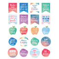 Teacher Created Resources Watercolor Words Inspire Planner Stickers 12pk