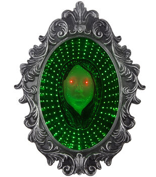 Maker's Halloween Animated Mirror with Girl