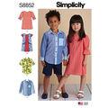 Simplicity Pattern S8852 Children\u0027s Dresses & Shirt-Size A (3-4-5-6-7-8)