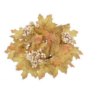Blooming Autumn Maple Leaf & Berry Mini Wreath-Toast