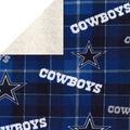 Dallas Cowboys Sherpa & Fleece Fabric-Plaid