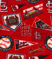 St. Louis Cardinals Fleece Fabric-Vintage, , hi-res
