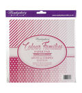 Hunkydory Color Families Paper Pad 8X8 48/Pk-Pink Spots & Stripes