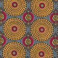 Cotton Shirting Fabric-Sage Gold Global Circles Metallic