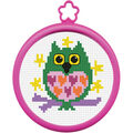 Plaid My 1st Counted Cross Stitch Kit Owl Mini