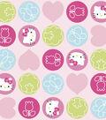 Nursery Fabric-Hello Kitty Dot Toss Fleece