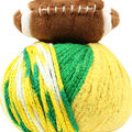 DMC Top This! Team Colors Yarn-Green & Gold