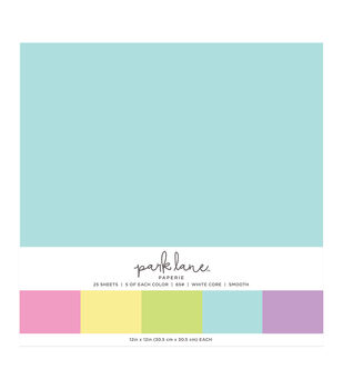 Park Lane 25 pk 12''x12'' Value Papers-Soft