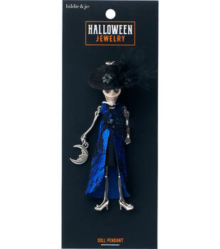 hildie & jo Halloween Doll Pendant-Day of the Dead Witch Agnes