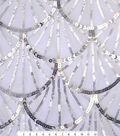 Casa Embellish Spring Fabric -Silver Sequin Scallop