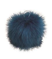 Buttercream 5'' Faux Fur Pom Pom-Turquoise, , hi-res