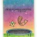 Simon Hurley create. Cling Stamps 6\u0027\u0027X9\u0027\u0027-Trampoline Friends