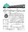 Heidi Swapp Mixed Media Clear Stamps 5.5\u0022X5.5\u0022-Music Notes