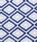 Blizzard Fleece Fabric 59\u0022-Navy Gray Aztec