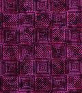 Modern Cotton Fabric 43\u0022-Stacking Squares Red