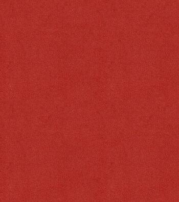"""Signature Series Multi-Purpose Faux Suede Decor Fabric 58""""-True Red"""