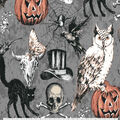 Halloween Cotton Fabric-Top Hat And Nightmare