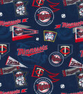 Minnesota Twins Cotton Fabric -Vintage