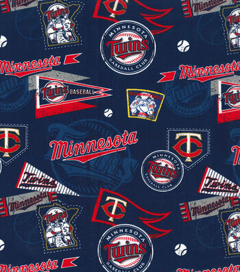 Minnesota Twins Cotton Fabric-Vintage