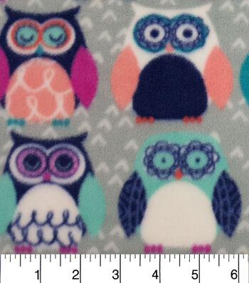 "Anti-Pill Fleece Fabric 59""-Sadie Owl"