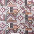 No Sew Fleece Throw-Mauve Aztec