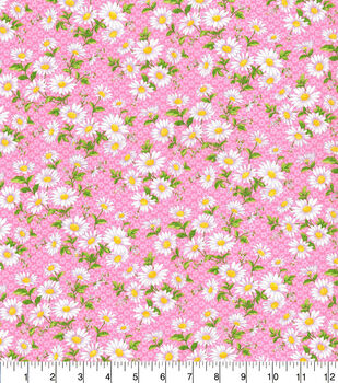 Keepsake Calico Cotton Fabric-Daisy Delight Pink