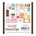 Echo Park Paper Co. I Heart Crafting Ephemera Cardstock-Frames & Tags