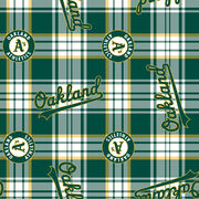 Oakland Athletics Fleece Fabric -Plaid, , hi-res