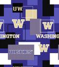 University of Washington Huskies Cotton Fabric 43\u0022-Modern Block