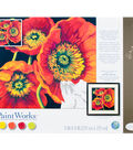 PaintWorks Paint by Number 11\u0027\u0027x11\u0027\u0027 Kit-Red Poppy Trio