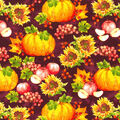 Harvest Cotton Fabric-Harvest Icons with Berries