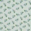 Silky Stretch Crepe Fabric 57\u0022-Blue Ditsy Floral