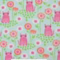 Blizzard Fleece Fabric -Pink Kitties & Bloom