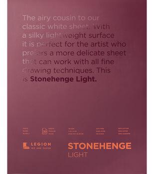 Legion Paper Stonehenge 30-sheet 11''x14'' Light Paper Pad-White