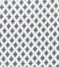 Wide Flannel Fabric -Black White Diamond