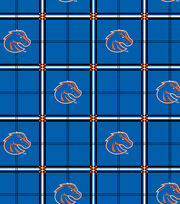 "Boise State University Broncos Flannel Fabric 42""-Plaid, , hi-res"